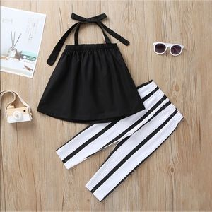 Set Toddler Strappy Top and Stripped Pant